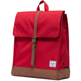 Herschel City Mid-Volume Backpack red/saddle brown